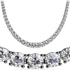 diamond necklace round images 12 ct round diamond graduated tennis necklace 4 prong 16 inch jpeg