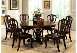 Dining Room Table Furniture Round Dining Table With Armchairs Dark Wood Dining Table With 4