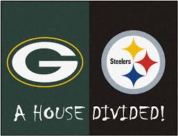 nfl green bay packers pittsburgh steelers house divided mat