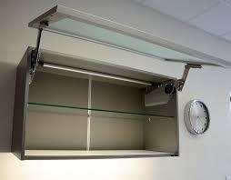 meuble haut cuisine vitré meuble de cuisine haut court porte relevante en verre porte