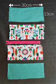 d i y tutorial make your own cosmetic bag hannah in the house
