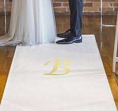 White Aisle Runner Wedding Aisle Runners Personalized Aisle Runners