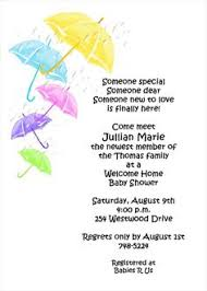 welcome home baby shower baby shower umbrellas welcome home invitations at invitationsbyu