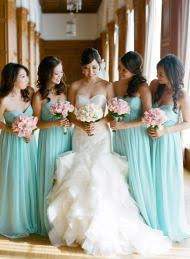 bridesmaid dresses los angeles the color and length of the bridesmaid s dresses wedding