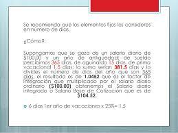 cmo calcular el salario diario integrado con sueldo presentación nomina integral percepciones