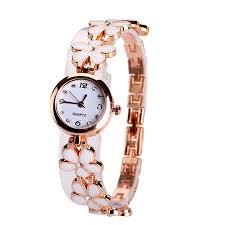 bracelet design watches images New design rose gold women 39 s watches luxury diamond fashion flower jpg