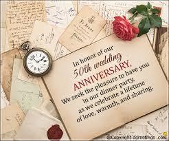Greetings For 50th Wedding Anniversary 50th Anniversary Invitation Wording 50th Wedding Anniversary