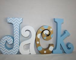 wooden letters nursery letters name letters 7 letter set