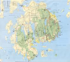 Map The United States by Mount Desert Island Acadia National Park Map The World It A