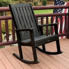 Patio Rocking Chairs Wood by Highwood Lehigh Recycled Plastic Rocking Chair Hayneedle