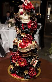 Halloween Themed Wedding Decorations by Best 25 Skull Wedding Cakes Ideas On Pinterest Gothic Wedding