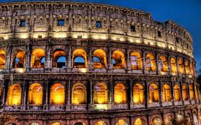 colosseum amphitheatre in rome italy wonders hd photos