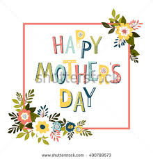 mothers day card template vector stock vector 400789573 shutterstock