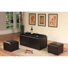 coffee table with storage stools free shipping today overstock