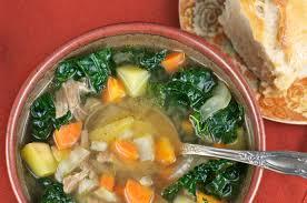 make a pot of turkey soup mixed greens