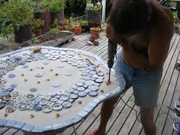how to make a mosaic table top how to mosaic and make beautiful objects for home and garden making