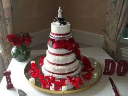 red and white wedding cake with fountain gallery for gt red and