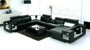 canap 6 places cuir lit en cuir noir canape 6 places 272x359x187 convertible aigle et