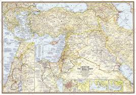 Biblical Map Of The Middle East by Middle East Wall Maps Maps