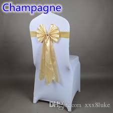 yellow chair sashesaffordable wedding favors chagne color chair sash butterfly style wedding chair