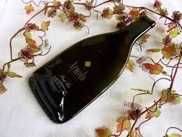 wine bottle cheese plate slumped glass wine bottle cheese plate from armida winery 20 0