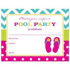 pool party invitations flip flops fill in pool party invitations and envelopes 24 count
