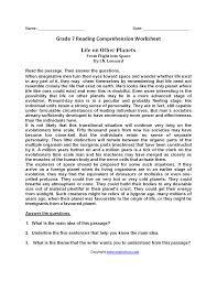 1st Grade Reading Comprehension Worksheets Reading Worksheets Seventh Grade Reading Worksheets
