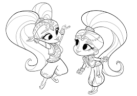 shimmer and shine coloring pages of 2017 birthdays