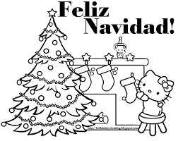 Christmas Coloring Pages Hello Tree Coloring Page