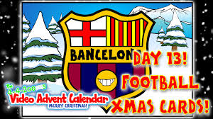 day 13 football christmas cards 442oons video advent