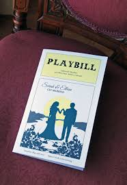 playbill wedding program playbill wedding program theater wedding program bi fold