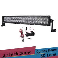 24 inch led light bar offroad 24 inch combo led light bar 5d 200w off road suv tractor 4x4 truck