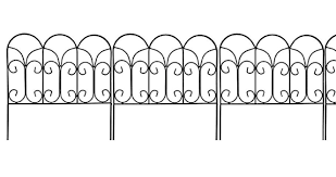 decorative garden border edging wire fence panel bed flower lawn