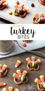 adorable pretzel turkey bites recipe thanksgiving
