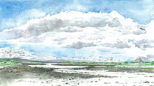 water in the sky drawing clouds in watercolour
