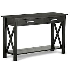 home furniture kitchener simpli home kitchener solid wood console table