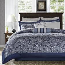 madison park whitman navy 12 piece complete bed set