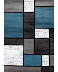 Modern Black Rugs Great Deals On Osti Blue Black White Grey Polypropylene