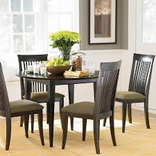 Black Dining Room Furniture Modern Style Dining Room Feature Round Black Wood