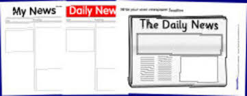 printable newspaper templates from sparklebox