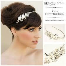 wedding headband ceramic flower bridal headband by hair comes the hair