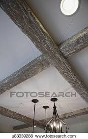 Wood Beam Light Fixture Pictures Of Low Angle View Of Wooden Beam With Light Fixtures On