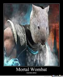 Wombat Memes - mortal wombat by envy meme center