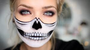 where to buy good halloween makeup half skull halloween makeup tutorial youtube