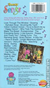 barney songs vhscollector com your analog videotape archive