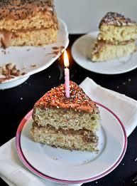 yellow birthday cake chocolate fudge frosting