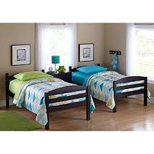 espresso twin bed easy to convert to twin bed practical space saver wood bunk bed