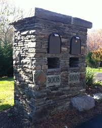 Brick Mailbox Flag Stone Double Mailbox Idea A Little Big Maybe Our House At