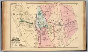 Haskell Map Orange E Orange W Orange David Rumsey Historical Map Collection