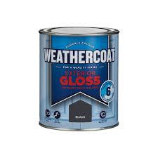 Black Exterior Gloss Paint - weathercoat black exterior gloss paint 750ml at homebase co uk